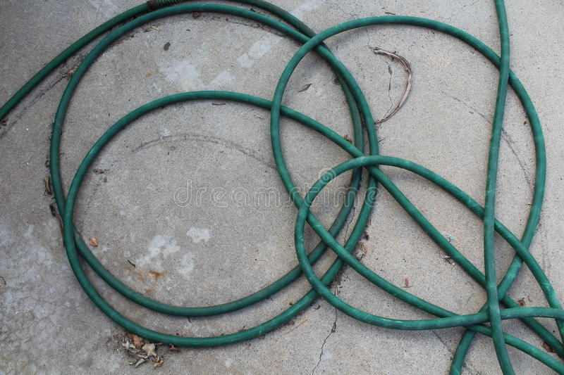 Messy hose royalty free stock images