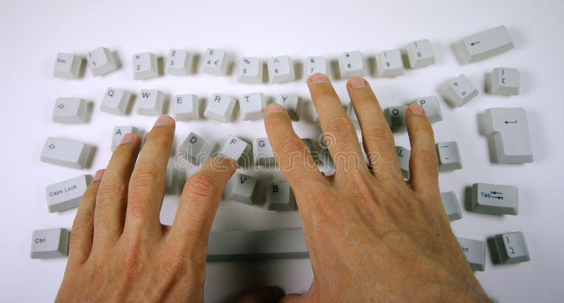 Messy keyboard royalty free stock photo