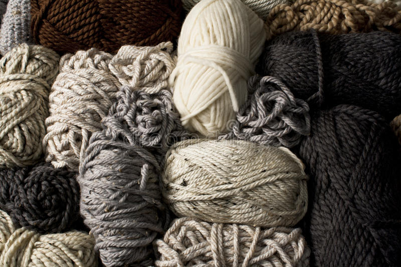 Messy Yarn in Neutral Colors stock photo