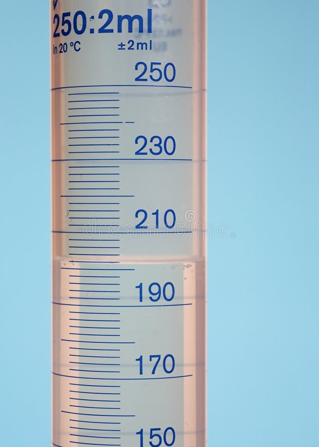 Messzylinder stockfoto