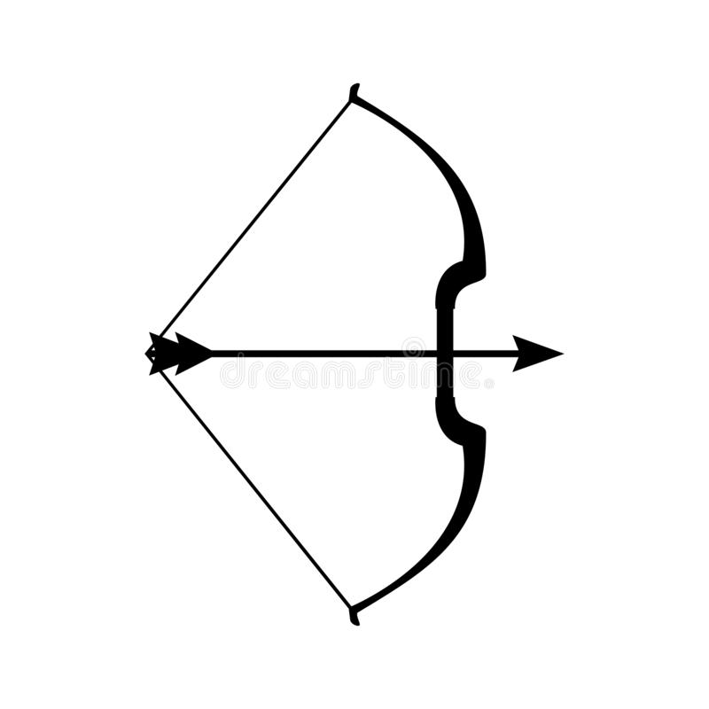 """Mest arbalest symbol för armborst, vektor för pilbågetecken†"""" vektor illustrationer"""