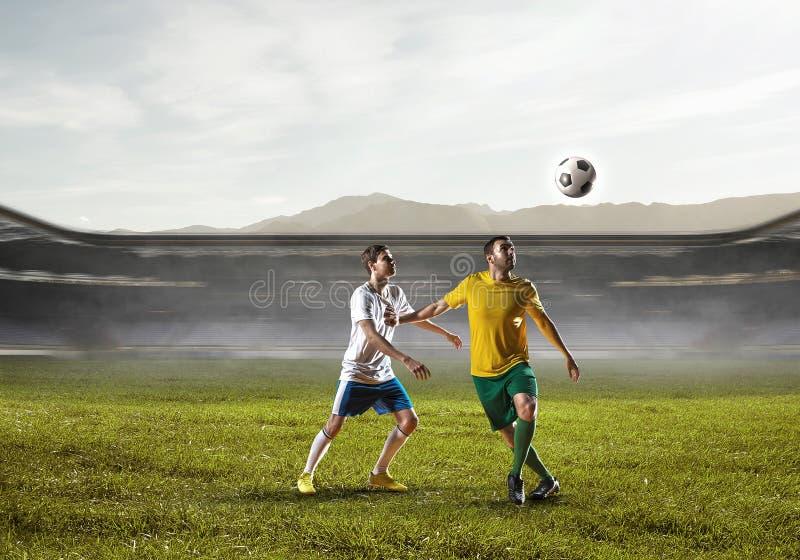 Mest bra ögonblick för fotboll Blandat massmedia royaltyfri bild