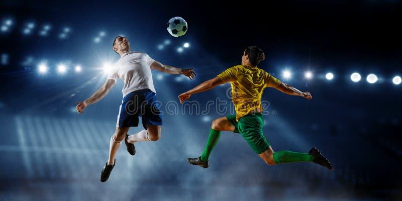 Mest bra ögonblick för fotboll Blandat massmedia arkivfoton