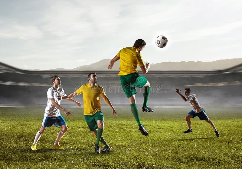 Mest bra ögonblick för fotboll Blandat massmedia royaltyfria foton