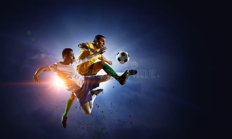 Mest bra ögonblick för fotboll Blandat massmedia arkivbilder