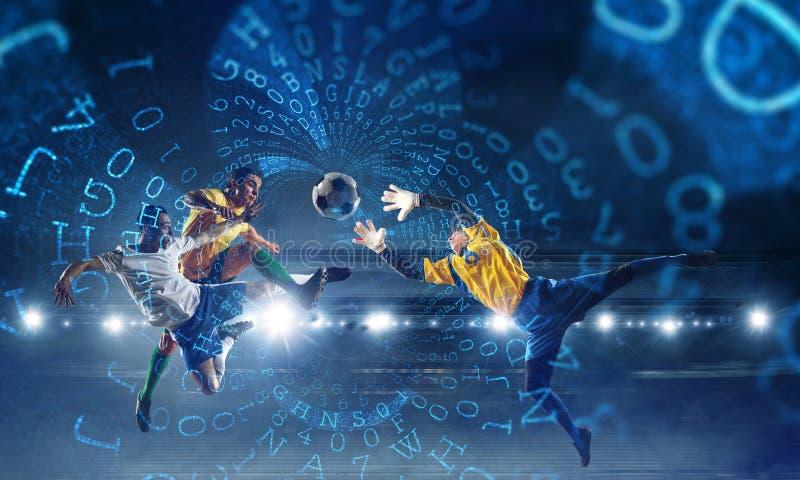 Mest bra ögonblick för fotboll Blandat massmedia arkivfoto