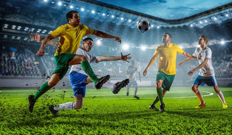 Mest bra ögonblick för fotboll Blandat massmedia arkivbild