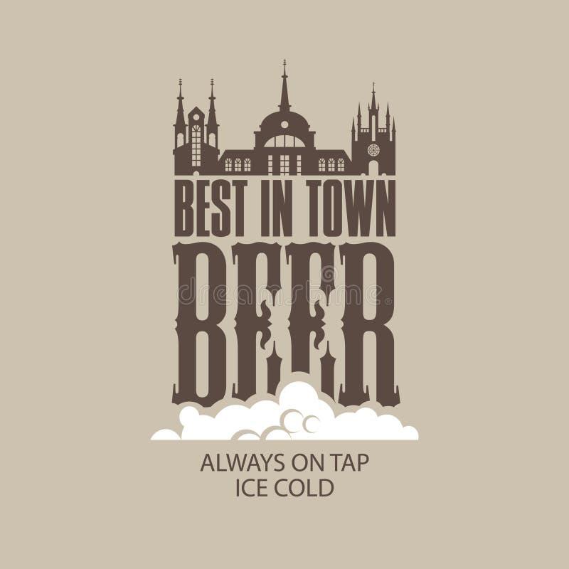 Mest bra öl i staden royaltyfri illustrationer