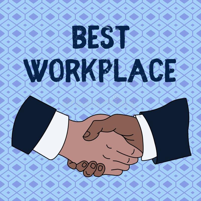 Mest bra arbetsplats f?r handskrifttext Idealt företag för begreppsbetydelse som arbetar med den höga skakan för kompensationsspä stock illustrationer