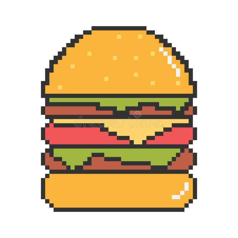 Mest bra hamburgareillustration för vektor stock illustrationer