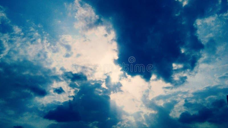 Mest bra himmel fotografering för bildbyråer