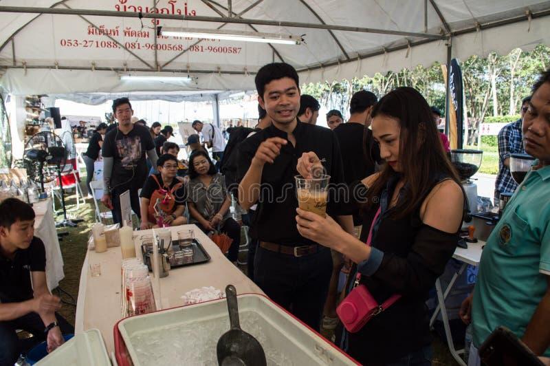 Mest bra kaffe & te på Singh Park Danandeiskaffe, seminarium arkivfoto