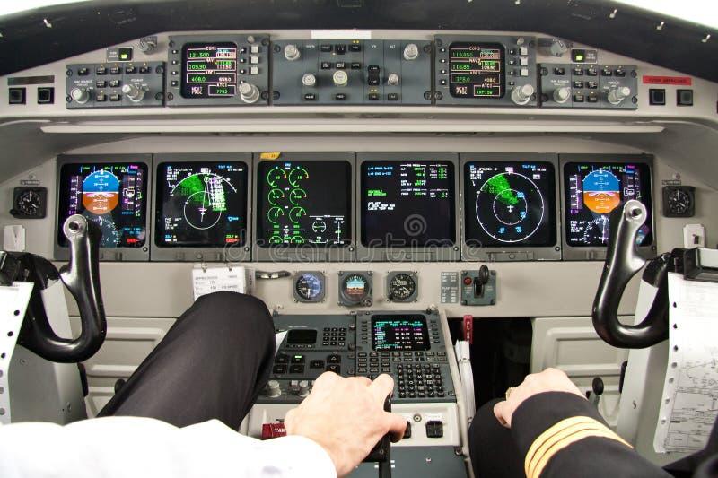 Mest bra kontor för flygplancockpit-