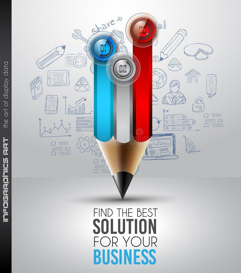 Mest bra mall för affärslösningsInfographic orientering för dataskärm vektor illustrationer