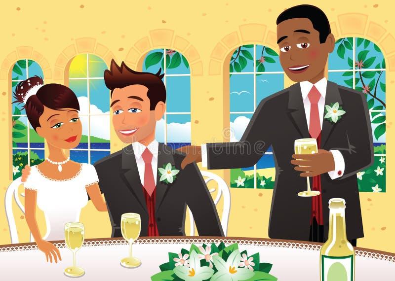 Mest bra manbröllopanförande stock illustrationer