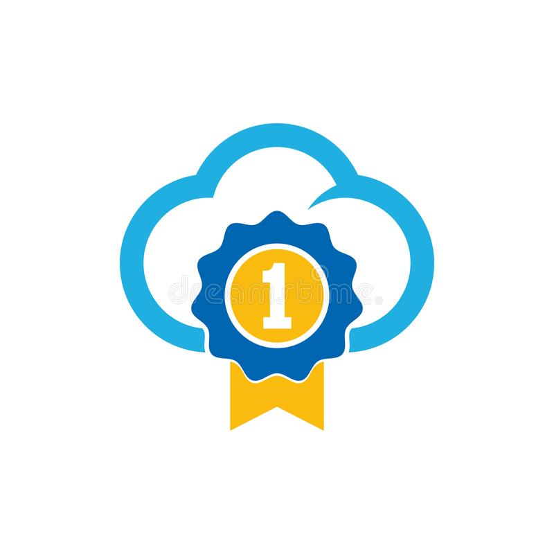 Mest bra moln Logo Icon Design stock illustrationer