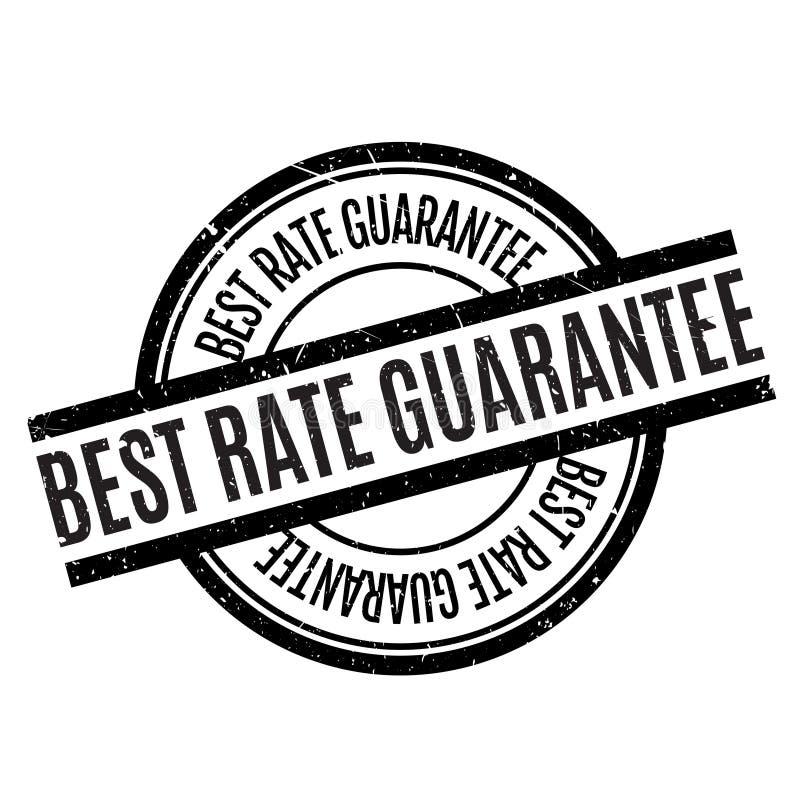 Mest bra Rate Guarantee rubber stämpel royaltyfri illustrationer