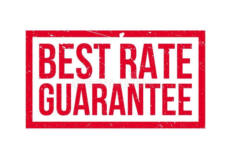 Mest bra Rate Guarantee rubber stämpel stock illustrationer