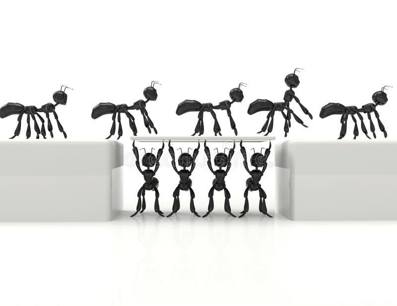 Mest bra tecknad filmmyror för lag 3d stock illustrationer