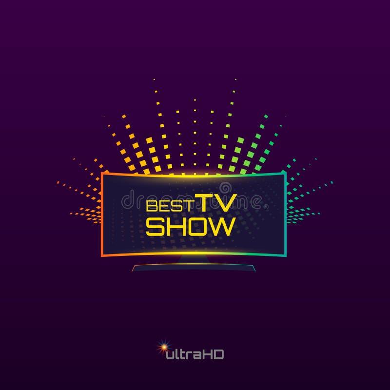 Mest bra TV-program stock illustrationer