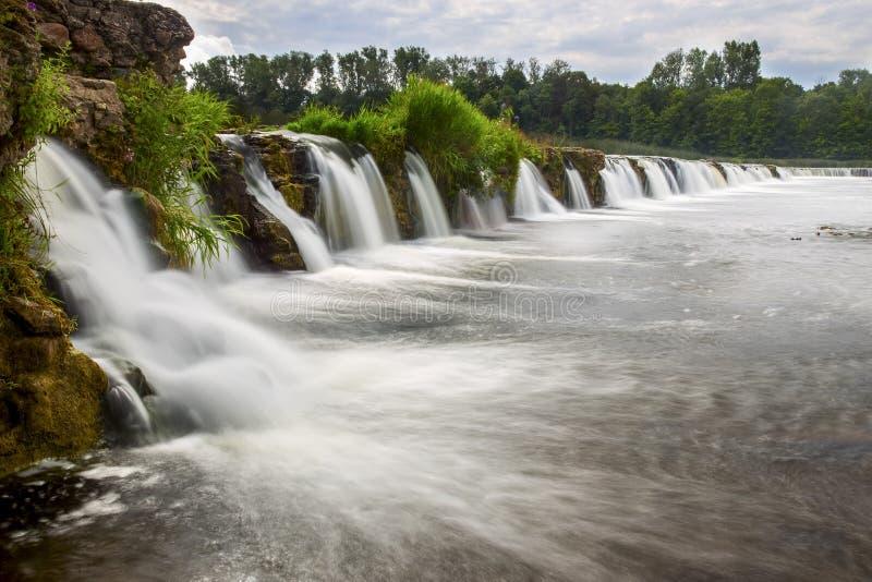 Mest bred vattenfall i Europa royaltyfria foton