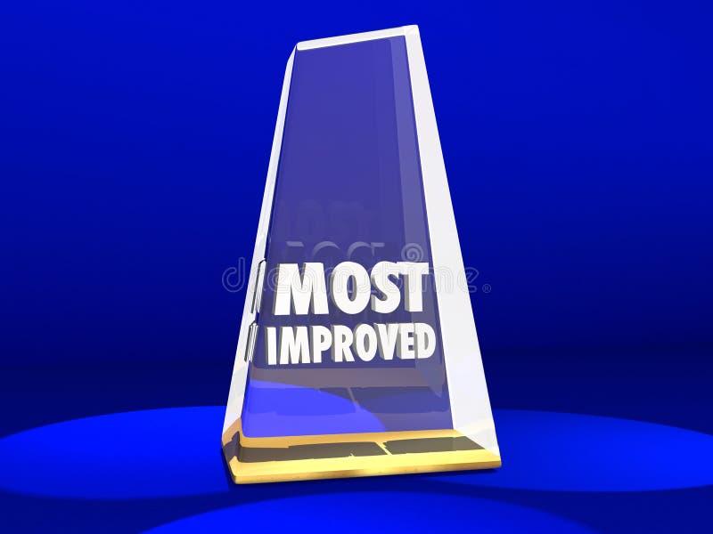 Mest förbättrad illustration för utmärkelsehederförbättring 3d stock illustrationer