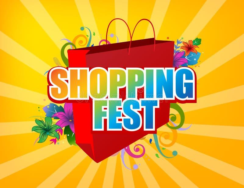 mest fest shopping stock illustrationer