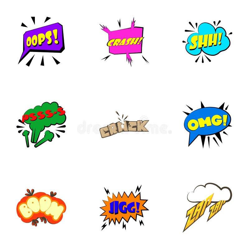 Mest gemensam använd akronymsymbolsuppsättning royaltyfri illustrationer
