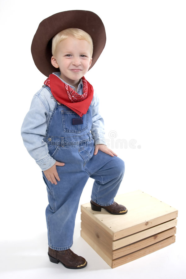 mest gullig cowboy little arkivfoto