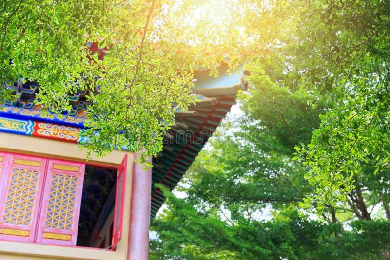 Mest härlig och mest detaljerad asiatisk stilkinestempel royaltyfri fotografi