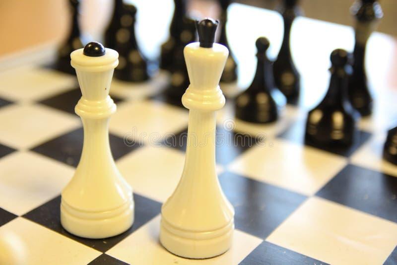 Mest härliga antika schackuppsättningar Brädet är mycket elegant arkivbild