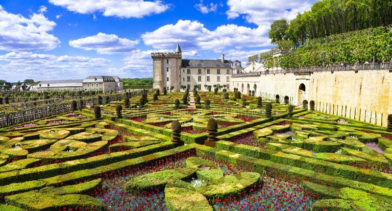 Mest härliga slottar av Europa - Villandry i Loire Valley, Frankrike royaltyfri fotografi