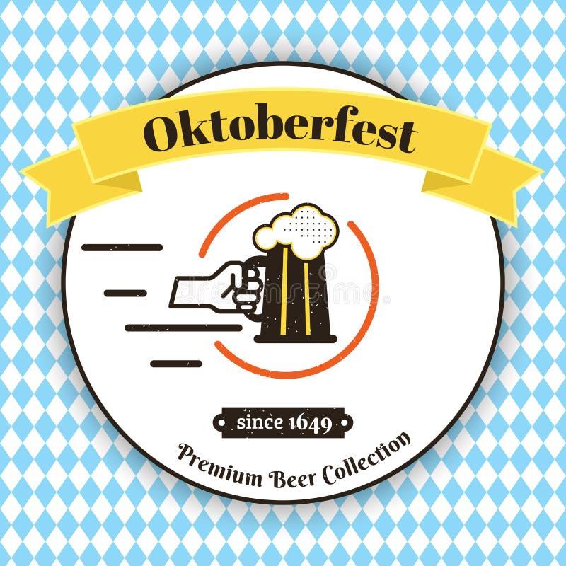 mest oktoberfest affisch vektor illustrationer