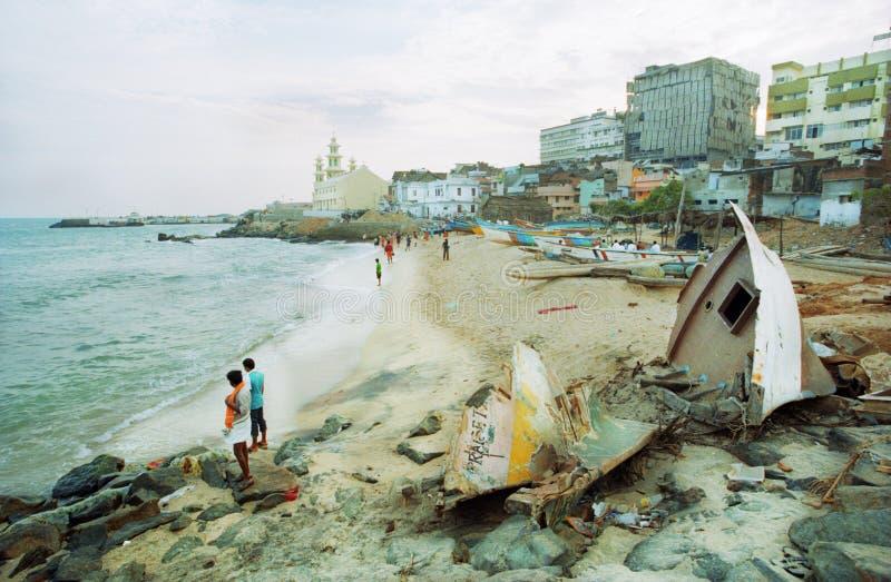 mest southernmost india punkt royaltyfria bilder