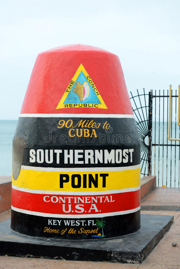 Mest southernmost peka i Key West, Florida royaltyfri fotografi