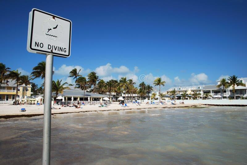 mest southernmost strand royaltyfri fotografi