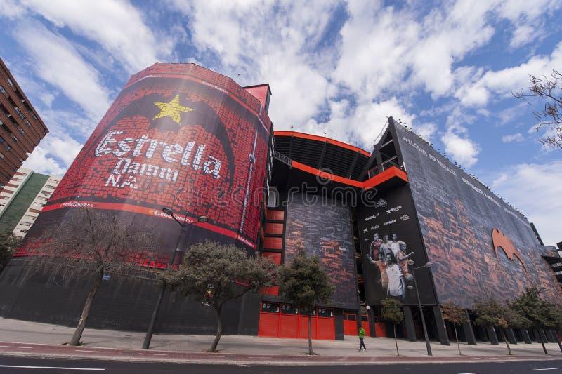 Mestalla-Stadion stockfotos