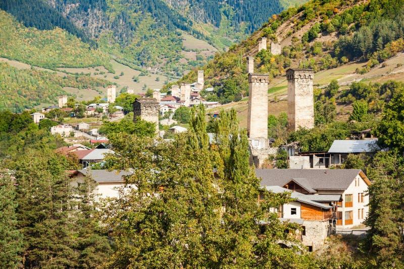 Mestia在乔治亚 库存图片