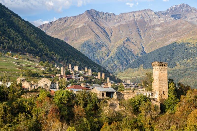 Mestia, Gruzja fotografia stock