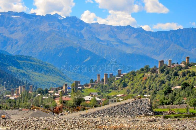 Mestia, Svaneti Georgië royalty-vrije stock afbeelding