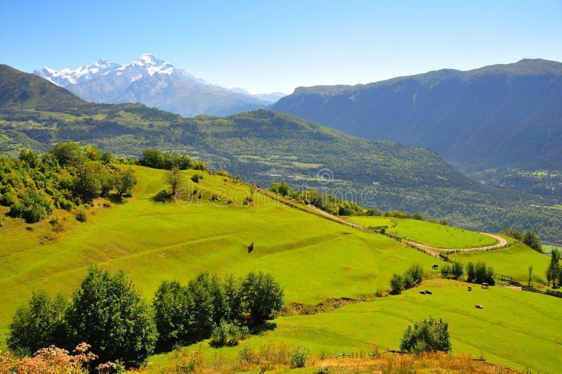 Mestia, Svaneti Georgia imagen de archivo libre de regalías