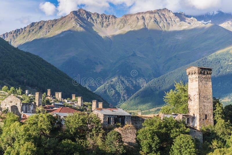Mestia, Svaneti-Provinz, Georgia lizenzfreies stockbild