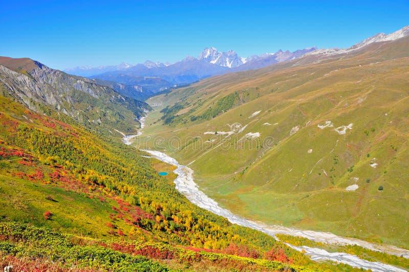 Mestia-Ushguli ταξίδι, Svaneti Γεωργία στοκ φωτογραφίες με δικαίωμα ελεύθερης χρήσης