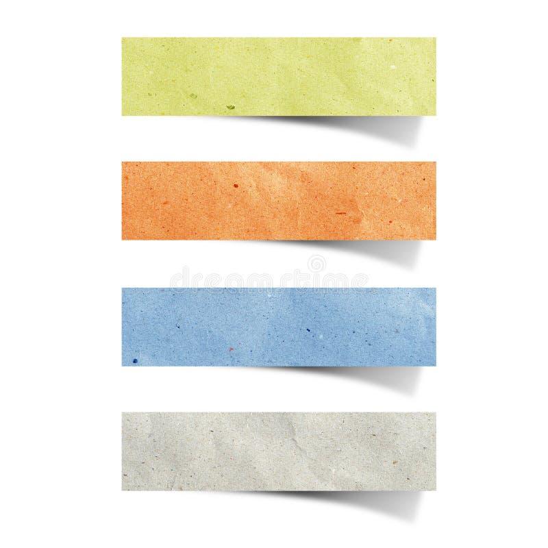 Mestiere di carta riciclato modifica immagini stock