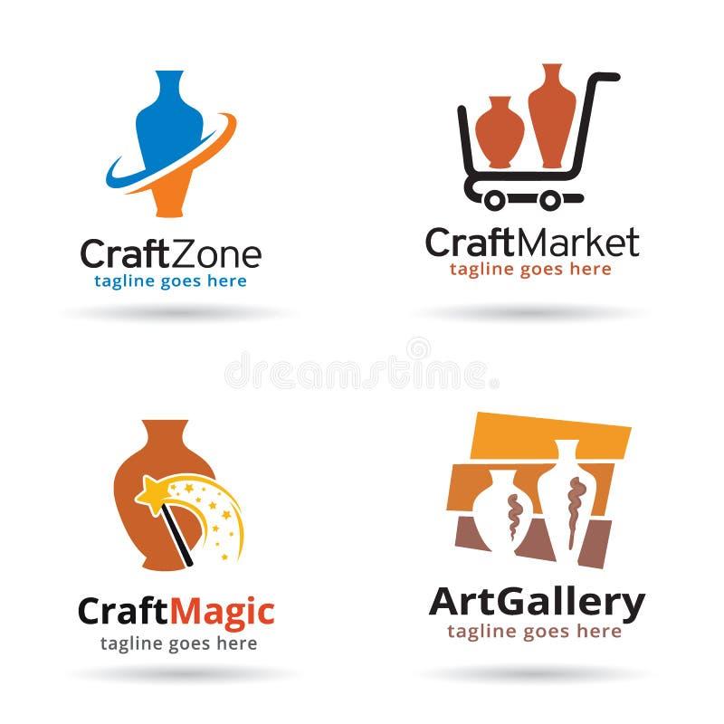 Mestiere Logo Template Design Vector illustrazione di stock