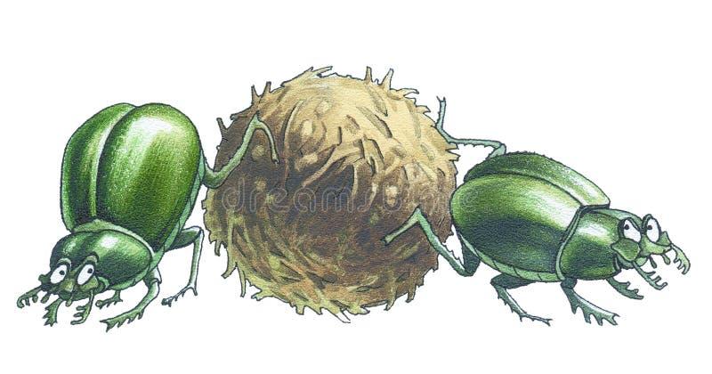 Mestkevers royalty-vrije illustratie