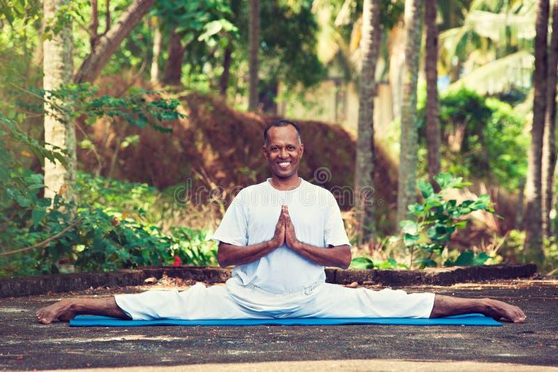 Mestre da ioga em india foto de stock