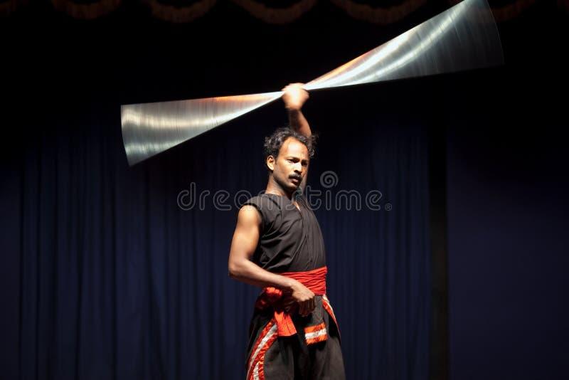 Mestre de Kalarippayat fotos de stock royalty free