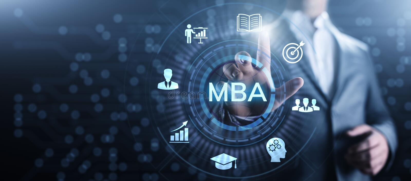 Mestre de MBA do conceito da educa??o da administra??o de empresas fotografia de stock royalty free