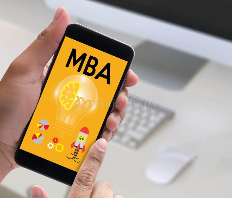 Mestre de MBA do programa MBA da administração de empresas, educação Ca fotos de stock
